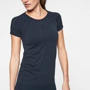 Athleta Foothill Workout Active Tee Navy Large